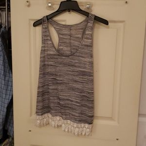 Laced Bottomed Tank Top